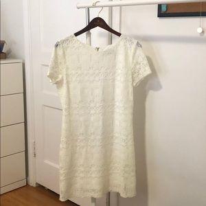 Lulus white short sleeve lace dress